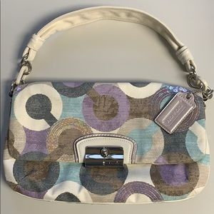 Coach Kristin Op Art Sequin Handbag